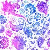Όμορφο floral άνευ ραφής σχέδιο watercolor Στοκ Φωτογραφία