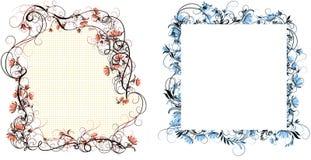όμορφο floral διάνυσμα απεικόνισης πλαισίων στοκ εικόνες με δικαίωμα ελεύθερης χρήσης