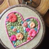 όμορφο floral διάνυσμα απεικόνισης καρδιών Στοκ Εικόνα