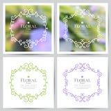 όμορφο floral διάνυσμα απεικόνισης πλαισίων Στοκ φωτογραφία με δικαίωμα ελεύθερης χρήσης