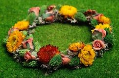 Όμορφο Floral στεφάνι Στοκ Εικόνες