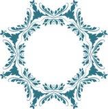 Όμορφο floral σχέδιο πλαισίων στο λευκό Στοκ εικόνες με δικαίωμα ελεύθερης χρήσης