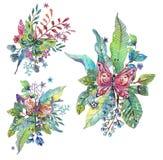 Όμορφο floral υπόβαθρο με την πεταλούδα για το σχέδιο διακοπών ελεύθερη απεικόνιση δικαιώματος
