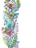 Όμορφο floral υπόβαθρο με την πεταλούδα για το σχέδιο διακοπών απεικόνιση αποθεμάτων