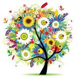 όμορφο floral δέντρο Στοκ φωτογραφίες με δικαίωμα ελεύθερης χρήσης