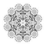 Όμορφο Floral mandala Στοκ φωτογραφία με δικαίωμα ελεύθερης χρήσης