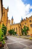 Όμορφο Hohenzollern από το εσωτερικό ναυπηγείο με τον κισσό Στοκ εικόνες με δικαίωμα ελεύθερης χρήσης