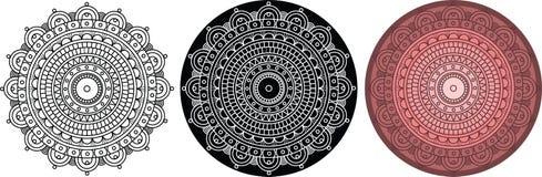 Όμορφο mandala για το χρωματισμό του βιβλίου Στρογγυλό σχέδιο με το παχύ περίγραμμα Στοκ Εικόνες