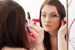 όμορφο mascara brunette Στοκ Εικόνες