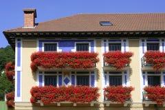 όμορφο navarra σπιτιών λουλου&d Στοκ φωτογραφία με δικαίωμα ελεύθερης χρήσης