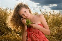όμορφο picnic σταφυλιών κοριτ&sig Στοκ Εικόνα