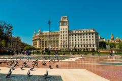 Όμορφο Plaza Catalunya Στοκ Εικόνες