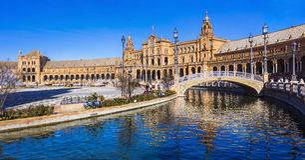 Όμορφο plaza Espana σε Seviglia, Ανδαλουσία στοκ εικόνα