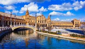 Όμορφο plaza Espana σε Seviglia, Ισπανία στοκ φωτογραφία με δικαίωμα ελεύθερης χρήσης