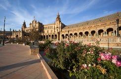 Όμορφο Plaza Espana στη Σεβίλλη Στοκ Φωτογραφία