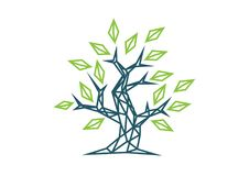 Όμορφο polygonal διανυσματικό δρύινο δέντρο ελεύθερη απεικόνιση δικαιώματος