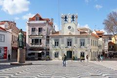Όμορφο Praca 5 Outubro στο Κασκάις, Πορτογαλία Στοκ Εικόνες