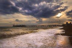 όμορφο seascape εικόνας καλοκ&alpha Στοκ Εικόνες