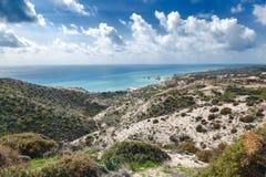 Όμορφο seascape, μπλε θάλασσα και ουρανός, δημοφιλής προορισμός για το SU στοκ φωτογραφίες με δικαίωμα ελεύθερης χρήσης