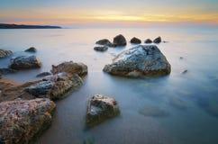 Όμορφο Seascape παράδεισος φύσης στοιχείων σχεδίου σύνθεσης Στοκ Εικόνα