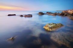 Όμορφο Seascape παράδεισος φύσης στοιχείων σχεδίου σύνθεσης Στοκ Εικόνες