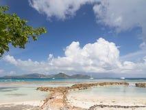 Όμορφο seascape στις Σεϋχέλλες στοκ εικόνες