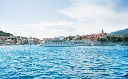Όμορφο seascape της Κροατίας Ταξίδι, ιστιοπλοϊκό, διακοπές con Στοκ φωτογραφία με δικαίωμα ελεύθερης χρήσης