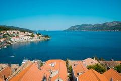 Όμορφο seascape της Κροατίας Ταξίδι, ιστιοπλοϊκό, διακοπές con Στοκ Φωτογραφίες