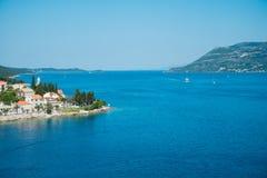 Όμορφο seascape της Κροατίας Ταξίδι, ιστιοπλοϊκό, διακοπές con Στοκ φωτογραφίες με δικαίωμα ελεύθερης χρήσης