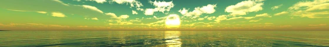 Όμορφο Seascape angthong εθνική όψη της Ταϊλάνδης θάλασσας πάρκων φως πέρα από τον ωκεανό Στοκ φωτογραφίες με δικαίωμα ελεύθερης χρήσης