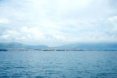 Όμορφο seascape, Hvar και διασπασμένο κανάλι Ταξίδι, ιστιοπλοϊκό, Στοκ Εικόνες