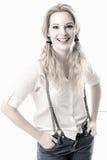 Όμορφο smilling πορτρέτο μόδας γυναικών Στοκ εικόνες με δικαίωμα ελεύθερης χρήσης