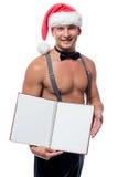 Όμορφο stripper σερβιτόρων, με το βιβλίο επιλογών Στοκ Εικόνες