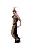Όμορφο toreador στο μαύρο κοστούμι Στοκ εικόνα με δικαίωμα ελεύθερης χρήσης