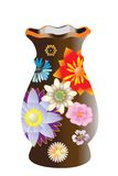 όμορφο vase λουλουδιών Στοκ Εικόνες