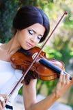 Όμορφο violonist Στοκ Εικόνα