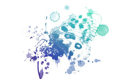 Όμορφο watercolor πεταλούδων απεικόνιση αποθεμάτων