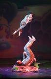 Όνειρα Cirque (φαντασία ζουγκλών), heatrical ακροβατικό perfo τσίρκων Στοκ εικόνα με δικαίωμα ελεύθερης χρήσης