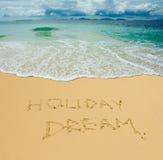 Όνειρο διακοπών Στοκ εικόνα με δικαίωμα ελεύθερης χρήσης