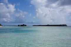 Όνειρο παραλιών καλυβών νησιών των Μαλδίβες Στοκ Φωτογραφίες