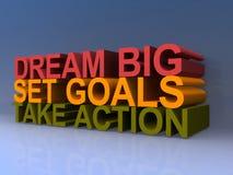 Όνειρο, στόχοι και δράση απεικόνιση αποθεμάτων