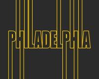 Όνομα πόλεων της Φιλαδέλφειας διανυσματική απεικόνιση