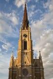 Όνομα της εκκλησίας της Mary στο Νόβι Σαντ στοκ εικόνες
