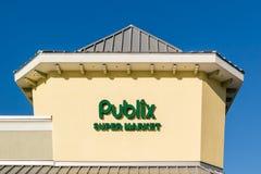 Όνομα υπεραγορών Publix και λογότυπο, Φλώριδα, ΗΠΑ Στοκ Φωτογραφίες
