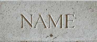 Όνομα στοκ φωτογραφία με δικαίωμα ελεύθερης χρήσης