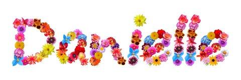 Όνομα Danielle λουλουδιών ελεύθερη απεικόνιση δικαιώματος