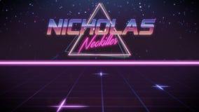 όνομα Nicholas στο ύφος synthwave ελεύθερη απεικόνιση δικαιώματος