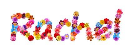 Όνομα Rachel λουλουδιών Στοκ εικόνες με δικαίωμα ελεύθερης χρήσης