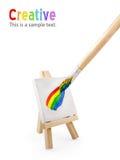 όντας καμβάς που χρωματίζ&epsilo Στοκ Φωτογραφία