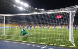 Όντας κατάλληλο παιχνίδι Ουκρανία β Παγκόσμιου Κυπέλλου 2018 της FIFA Ισλανδία Στοκ εικόνες με δικαίωμα ελεύθερης χρήσης